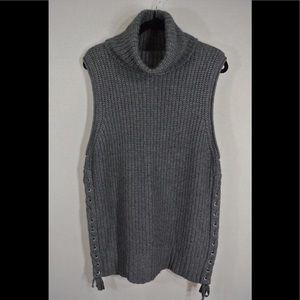 Autumn Cashmere sleeveless sweater gray Small # C